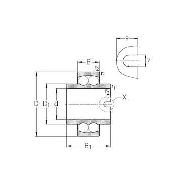 1210-K-TVH-C3 Kushineta drejt cilindrimit